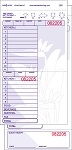 34930 Mahalo Hawaiian themed 2 part, purple carbonless restaurant guest checks from National Checking Company