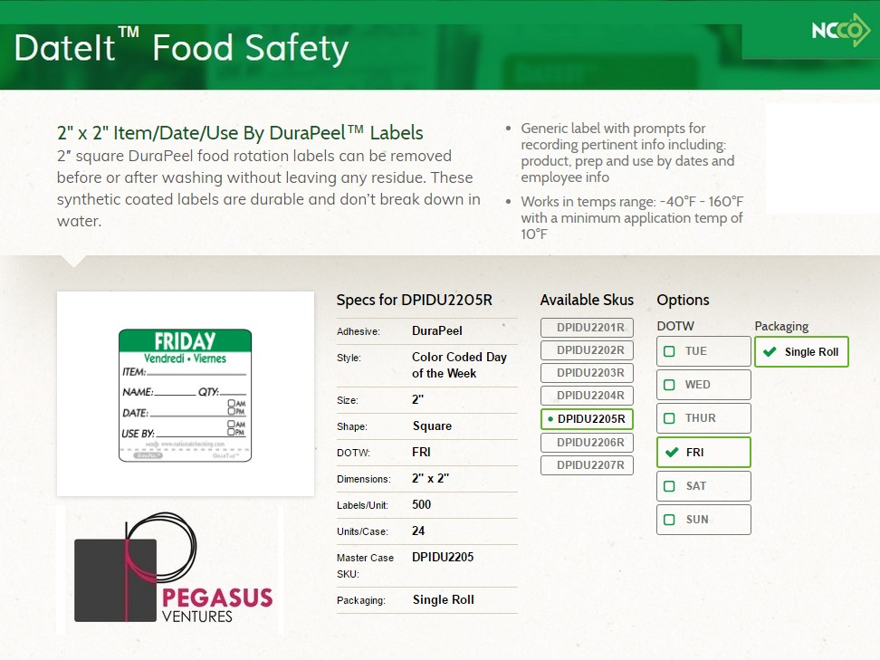 food safety labeling and dating