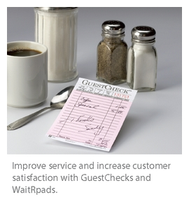 Restaurant Guest Checks Improve Service Customer Satisfaction