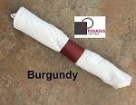 Burgundy restaurant napkin bands to wrap with linen napkins- 20,000 1.5