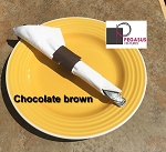 Chocolate Brown restaurant napkin bands to wrap with paper napkins- 2,000 1.5