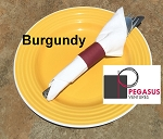 Burgundy restaurant napkin bands to wrap with paper napkins- 2,000 1.5