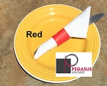 Red restaurant napkin bands to wrap with paper napkins- 2,000 1.5