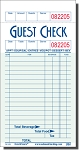 G3616BEV  Restaurant guest checks, paper, 1 part, green, 16 lines, medium paper, beverage column, National Checking