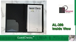 Medium Black Restaurant Guest Checks Holder AL-300