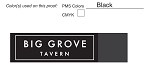 Big Grove Tavern Custom Napkin Band