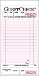 P3632SP Medium Single Copy Cardboard Guest Checks, 15, Line 1 Part, Pink National Checking Company