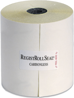2300-90 Cash Register POS paper rolls 3 Inch Wide 2 ply Carbonless White/Canary 90 feet Long RegistRolls® brand most frequently used in kitchen printers