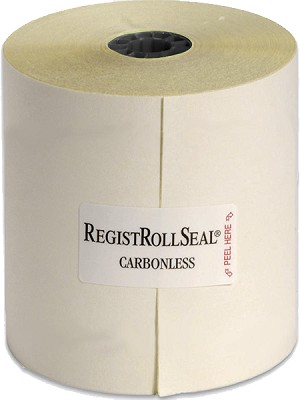 "2300SP REGISTER ROLLS 3""  2 Ply Carbonless 100' White/Canary RegistRolls®"