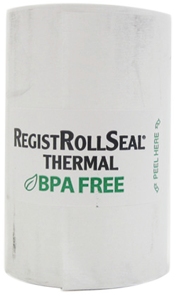 "7225-40 REGISTER ROLL 2.25"" THERMAL PAPER WHITE 1PLY 40' RegistRolls® brand"