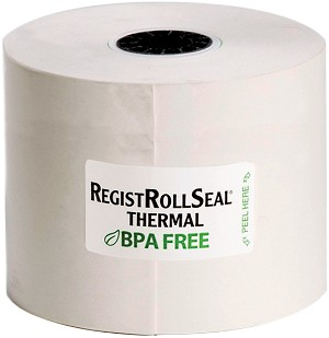 "7225SP Cash Register/POS roll 2.25"" Thermal paper White 1ply 200' RegistRolls®  brand"
