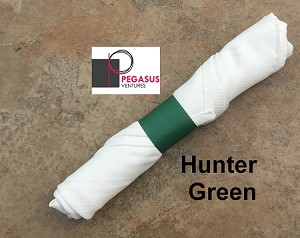 "Hunter Green restaurant napkin bands to wrap with linen napkins- 20,000 1.5"" x 6"""