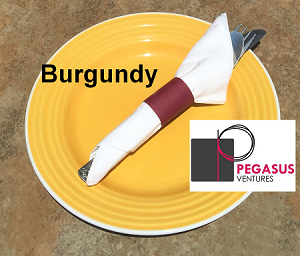"Burgundy restaurant napkin bands to wrap with paper napkins- 2,000 1.5"" x 4.25"""