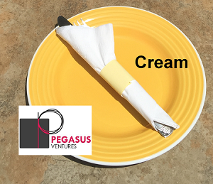 Cream  napkin restaurant napkin bands