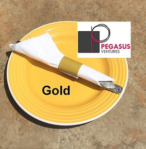 "Gold restaurant napkin bands to wrap with paper napkins- 20,000  1.5"" x 4.25"""