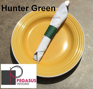 "Hunter Green restaurant napkin bands to wrap with paper napkins- 2,000 1.5"" x 4.25"""