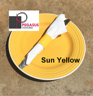 "Sun yellow restaurant napkin bands to wrap with paper napkins- 20,000 1.5"" x 4.25"""